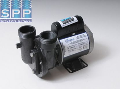 "3410020-0X: Circulation Pump, Waterway Uni-Might, 1/15HP, 230V, .8A, 1-Speed, 40GPM, 1-1/2""MBT, Less Unions"
