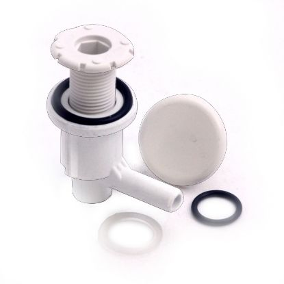 "670-2200: Air Injector, Waterway Lo-Pro Ell, 3/8"" Barb, White"