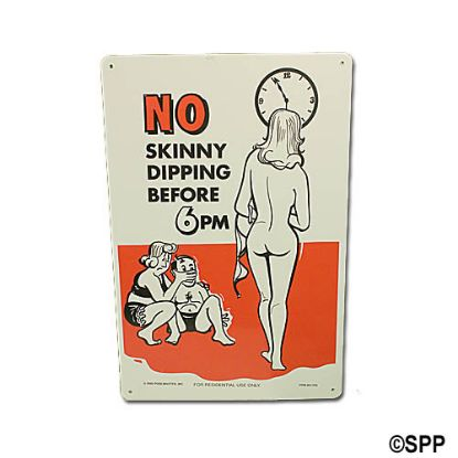 41356: Backyard Sign, No Skinny Dipping #2