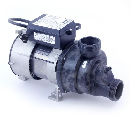 "04210002-5010: Bath Pump, Aqua-Flo Whirlmaster, 1.0HP, CD, 1-Speed, 115V,  9.0A, 1-1/2""MBT, w/Air Switch, 3' NEMA Cord & Unions"