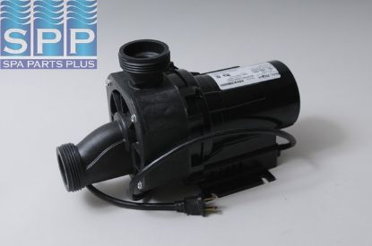"NR2A-C: Bath Pump, Balboa Gemini Plus II, 3/4HP, 115V, 8.5A, 1-1/2""MBT w/Air Switch & NEMA Cord"