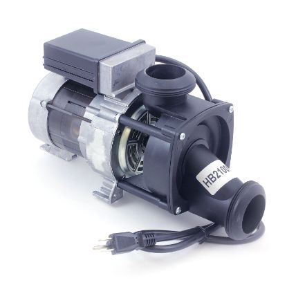 "HB21000: Bath Pump, Jacuzzi, .75HP, 115V, 7.5A, 1-1/2""MBT, Self-Aligning, w/Air Switch & NEMA Cord"