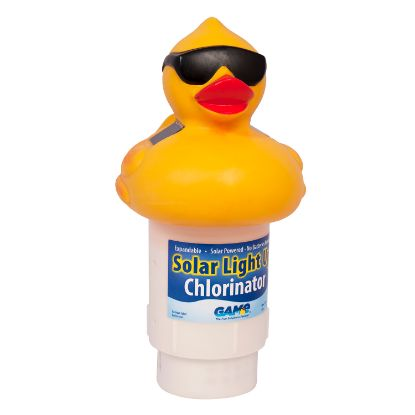 "8002GM: Chemical Feeder, Floating, GAME Solar, Light-up Derby Duck, 3""Tabs"