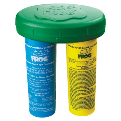 01-14-3882: Chemical Feeder, Floating, Spafrog, Mineral/Bromine Cartridge