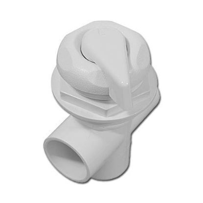 "11-4020FP: Diverter Valve, HydroAir, 3-Port, 1"" HydroFlow, Vertical, 5-Scalloped, White"