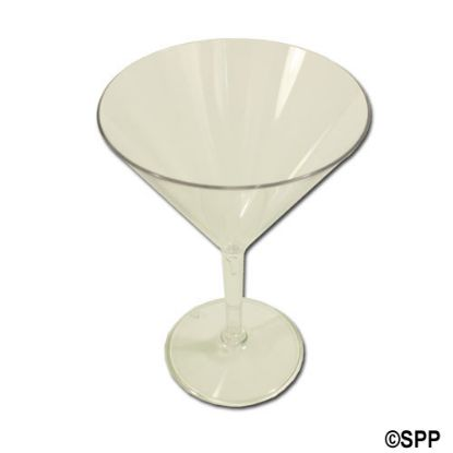 A08924SC: Drinkware, Acrylic, 10oz Martini Glass, Case Of 24