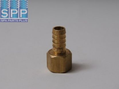 "H46-8-8: Fitting, Brass, Barbed Adapter, 1/2""RB x 1/2""FPT"