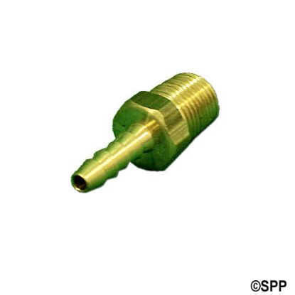 "H48-2-2: Fitting, Brass, Barbed Adapter, 1/8""Barb x 1/8""MPT"