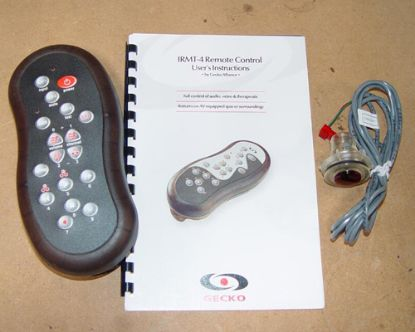 48-0196A-6: Floating Remote Kit, Hand Held, HydroQuip, 6' Cable, Electronic, IR, Spa/Audio