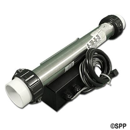 "48-7300-00-750: Heater Assembly, Pinnacle, Remote, 1.5/6.0kW, 115/230V, 2"" x 15""Long, w/ Pressure Switch, Hi-Limit Sensor"