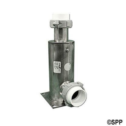 "45-2000: Heater Manifold,90 Deg,SS,Deluxe,10""Long,5"" x 5"" Sq Flange   1-1/2""In/Out,w/Tail Pcs"