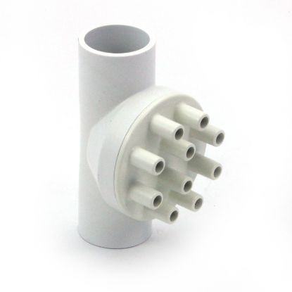 "0343-10: Manifold, PVC, Magic, 1""S x 1""S x (10) 3/8""SB Ports"