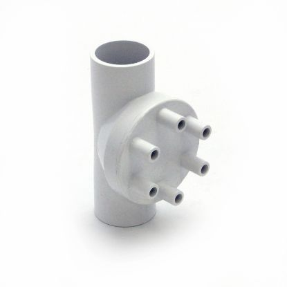 "0341-10: Manifold, PVC, Magic, 1""S x 1""S x (6) 3/8""SB Ports"