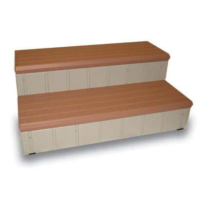 "LASS36-R: Steps, Confer, Deluxe, 36""Wide, Redwood"
